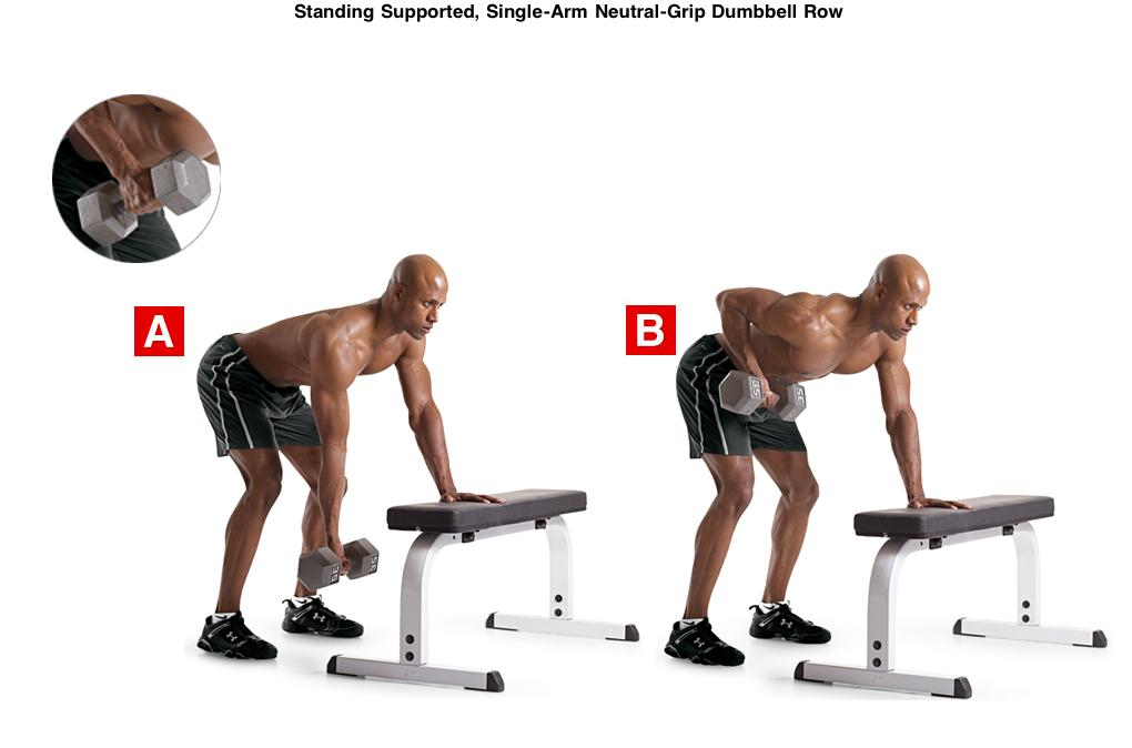 single arm row